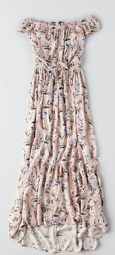 AEO Off-The-Shoulder Printed Maxi Dress