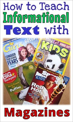 Introducing your students to figurative language can be fun with picture books. Use these figurative language activities to help your students practice. Magazines For Kids, Children's Magazines, Reading Strategies, Reading Comprehension, Reading Resources, Reading Activities, Fear Of School, Nonfiction Text Features, Figurative Language