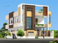 Two floors house building elevation, house elevation, house front design, m House Outer Design, House Front Design, Modern House Design, 3 Storey House Design, Bungalow House Design, Independent House, Modern Bungalow Exterior, House Elevation, Building Elevation