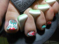 paisley toe nail art by misty