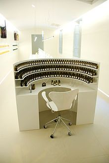"""A """"perfume organ"""", where perfumers play around with hundreds of essences, in Grasse"""