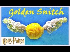 Rainbow Loom 3D GOLDEN SNITCH (Harry Potter) Charm. Designed and loomed by DIY Mommy. Click photo for YouTube tutorial. 09/02/14.