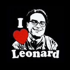 Camiseta chica The Big Bang Theory. I Love Leonard