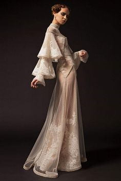 Krikor Jabotian 2019 New Prom Dresses High Neck Lace Applique Long Sleeve Beaded Formal Party Dress Vintage Pageant Evening Gowns After Prom Dresses, Krikor Jabotian, Dream Dress, Couture Fashion, Evening Gowns, Designer Dresses, Vintage Dresses, Beautiful Dresses, Marie