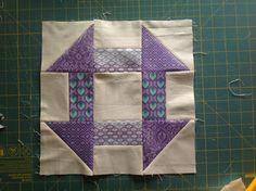Semi improv 9-patch quilt tutorial - block 3