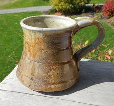 WoodFired Shino Mug IV by splitfirepottery on Etsy, $26.00