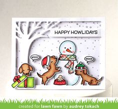 Lawn Fawn - Happy Howlidays (Stamptember exclusive)