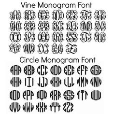 Free Circle Monogram Fonts Download Monogrammed                                                                                                                                                     More