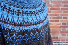 Handmade Icelandic style sweater by TASSSHA on Etsy