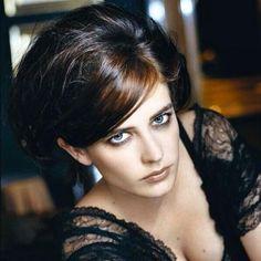 Eva Green, star of Casino Royale, Sin City, 300, Kingdom of Heaven, and Penny Dreadful, a brunette modern classic beauty.