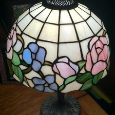 Stain glass lamp- we have the hanging lamp over our kitcken table.....
