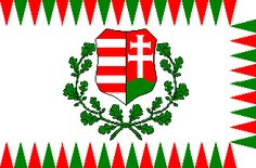 Hungarian war flag from 1848.
