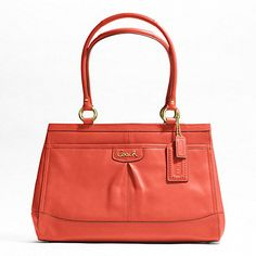 Coach Park Leather Carryall in Permission/Brass.    This is the purse I want for spring/summer!