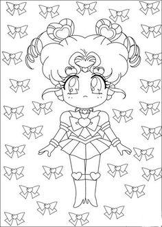 Sailor Moon Kleurplaten voor kinderen. Kleurplaat en afdrukken tekenen nº 2
