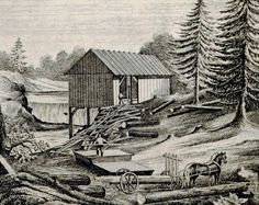 A Timber Mill in Sullivan County, New York in 1853.