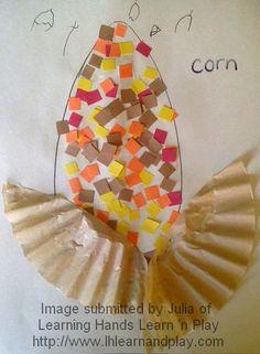 indian corn -- #fall, #thanksgiving, #toddler, #preschool