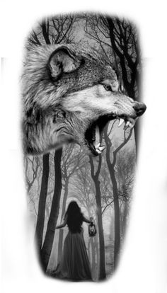 Antonio Mora, Black And Grey, Wolf, Tattoos, Artwork, Animals, Tattoo Ideas, Tattoo, Gray