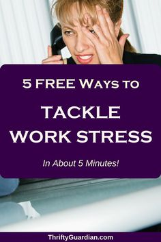 Tackle work stress a