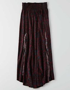 AEO Woven Maxi Skirt , Purple | American Eagle Outfitters