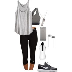 Dream by fightforyourself on Polyvore featuring H&M, NIKE, Native Union, Beats by Dr. Dre, Move Collective and CO