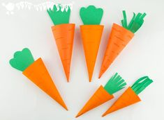 Make cute carrot Easter Baskets. Great for Easter egg hunts and gifts.