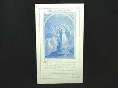 1920s French Virgin Mary Catholic Holy Card
