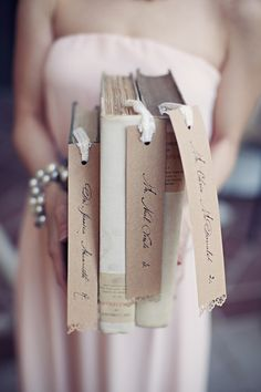 For the book lovers, a literary themed affair  Photography: Clayton Austin - loveisabird.com/  View entire slideshow: Our Favorite Wedding Themes on http://www.stylemepretty.com/collection/494/