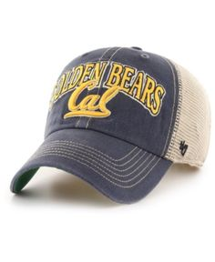612b10cb '47 Brand California Golden Bears Tuscaloosa Mesh Clean Up Cap - Navy/Khaki  Adjustable