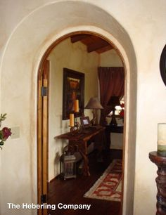 Spanish style, arched doors