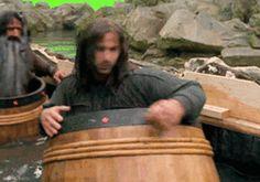 The Hobbit: Kili the Barrel scene O Hobbit, Hobbit Films, Rr Tolkien, Fili And Kili, Legolas, Tauriel, One Does Not Simply, Desolation Of Smaug, Film Movie