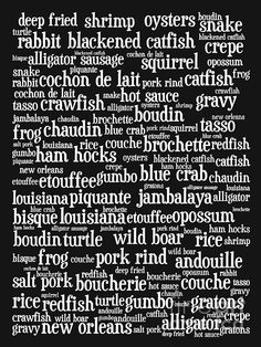 cajun sayings & words - Louisiana english - if you can read and say it - YOUR FROM LOUISIANA