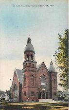 WATERTOWN, Wisconsin  WI   Evangelical Lutheran ST. JOHN' S CHURCH 1909 Postcard