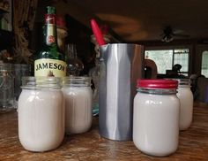 Homemade Irish Cream Liquor, can it get any better? This full flavored cocktail is perfect for sitting by the fireplace, camping or in your coffee. Not to mention, it makes for a perfect gift! Homemade Baileys, Homemade Irish Cream, Baileys Recipes, Irish Cream Liquor, Baileys Irish Cream, Irish Whiskey, Homemade Alcohol, Homemade Liquor, Alcoholic Punch