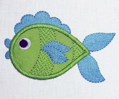 INSTANT DOWNLOAD Fish Embroidery Applique Machine Embroidery Design AN006