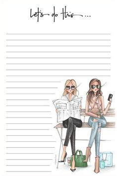 (notepad) - × in. lined notepad, packaged in a clear sleeve Free Printable Stationery, Printable Paper, Rome Antique, Fashion Sketches, Fashion Drawings, Fashion Illustrations, Note Paper, Writing Paper, Planner Pages