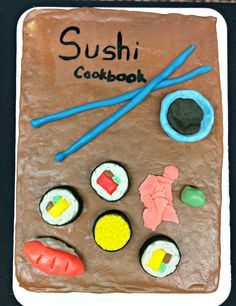 Sushi Cookbook at Johnson & Wales University Denver Campus Library's Edible Book Contest April 2015