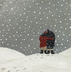 Gary Bunt. Snowflakes Snowflakes falling To the ground In the air A Winter chill Two lovers hold Each other tight Upon a snowy hill
