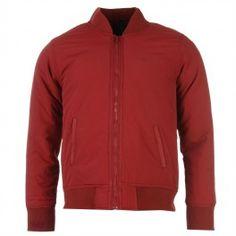 Donnay Bomber Jacket Mens Burgundy