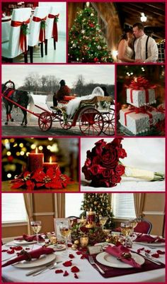 (David Tutera) A Christmas Wedding.... This is how I want my cake. Better cake to icing ratio than stacking layers.