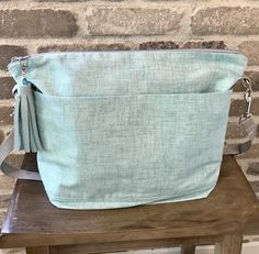 by Darby Mack Baby shower gift Grey and white lightweight washable Diaper bags made in the USA  Cotton canvas tote bag in Hearts
