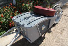 The scooter cargo trailer I designed and build for my 2007 Yamaha Vino 125. tburick495@aol.com