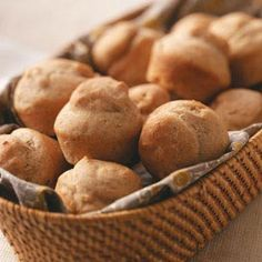 No-Knead Whole Wheat Rolls Recipe from Taste of Home -- shared by Deborah Patrauchuk of Sicamous, British Columbia