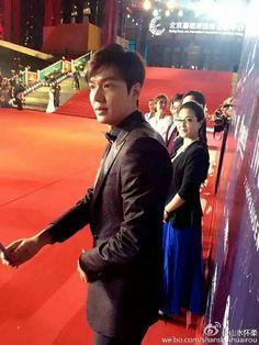 Hermoso en la alfombra roja del 6to Festival De Cine De Beijing