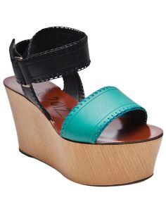 Lanvin Two Tone Wedge Sandal $855