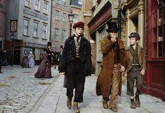 Fagin's possy of child pickpockets :) Charley Bates, the Artful Dodger, Oliver Twist Roman Polanski's Oliver Twist Oliver Twist, Homburg, Storm And Silence, Charles Dickens, Artful Dodger, Harry Potter, Roman Polanski, 20th Century Fashion, 17th Century
