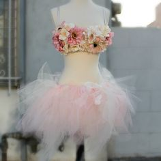 34C Pink & Cream Wildflowers Rave Outfit