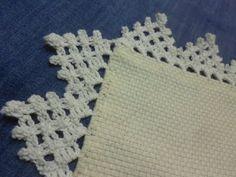 Orilla # 10 Triangulos Crochet facil en una sola vuelta - YouTube