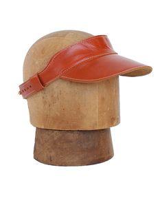 English Brown Rockafellow Leather Visor #righttribe #leathervisor