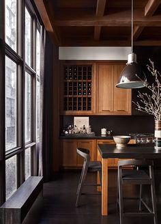 Kitchen woodwork by New York Custom Interior Millwork Corp. Photo via Houzz.