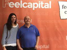 Nuestro agradecimiento al redactor José Jiménez Álvarez, de finanzas.com, por su visita a las oficinas de Feelcapital. En la imagen, junto a nuestra compañera y responsable de Comunicación Ana Orna. #Comunicación (15 de junio de 2015).
